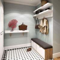 пример светлого интерьера прихожей в частном доме картинка