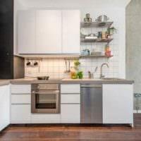 идея светлого декора кухни 11 кв.м картинка