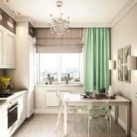 пример светлого декора кухни 7 кв.м картинка