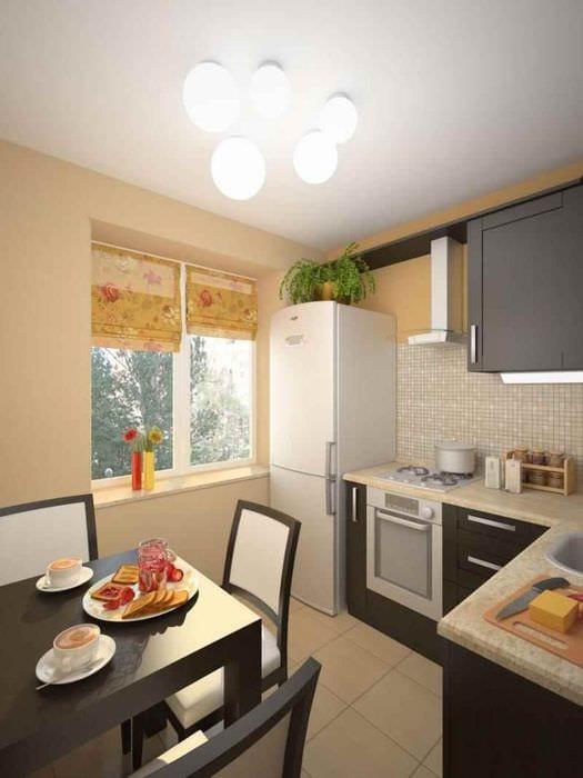идея красивого стиля кухни 7 кв.м