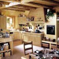 вариант яркого стиля кухни в деревенском стиле фото