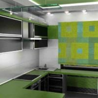 вариант необычного декора кухни в загородном доме картинка