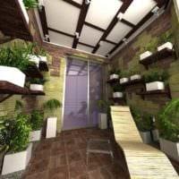 идея использования красивых идей оформления зимнего сада в доме картинка