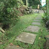 идея использования красивых садовых дорожек в ландшафтном дизайне картинка