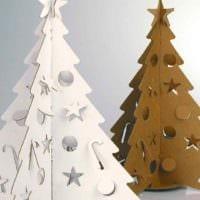 идея создания праздничной елки из бумаги самостоятельно картинка