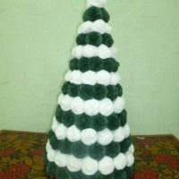 пример создания светлой елки из бумаги своими руками картинка