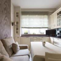 вариант красивого интерьера кухни 11 кв.м фото