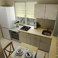 идея яркого стиля кухни 7 кв.м фото