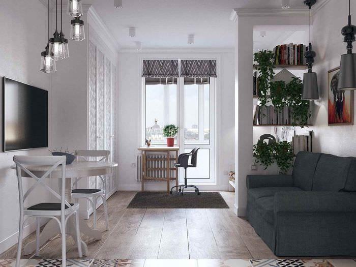 пример красивого декора квартиры студии 26 квадратных метров