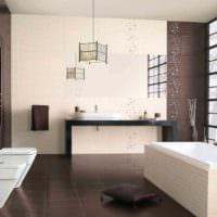 вариант яркого интерьера укладки плитки в ванной комнате картинка