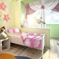 пример яркого стиля детской комнаты для девочки фото