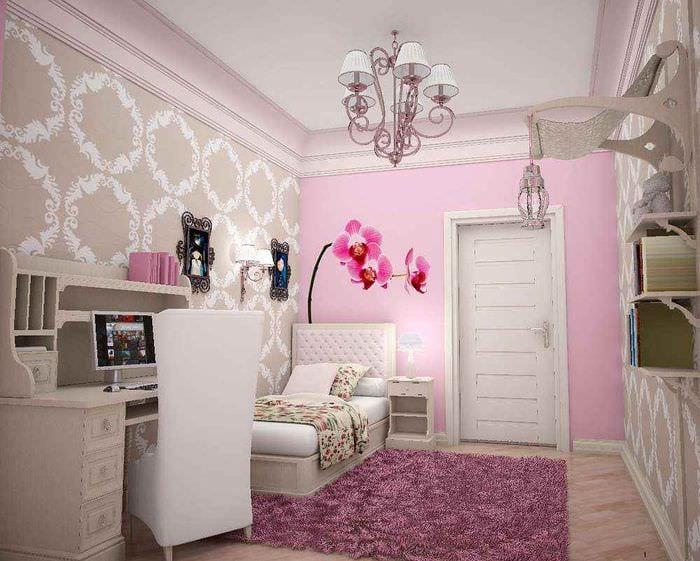 идея необычного стиля детской комнаты для девочки