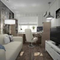 вариант необычного стиля комнаты 12 кв.м фото