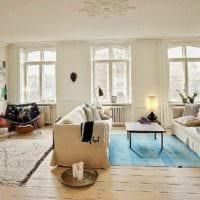 идея светлого стиля квартиры в скандинавском стиле картинка