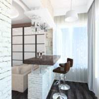 вариант яркого дизайна кухни 11 кв.м фото