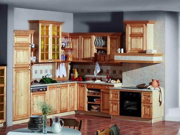 вариант необычного стиля кухни в деревенском стиле