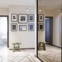пример необычного интерьера прихожей с зеркалами фото