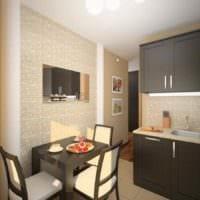 идея необычного декора кухни 10 кв.м. серии п 44 картинка