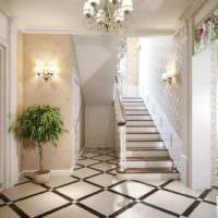 идея светлого дизайна прихожей в частном доме картинка