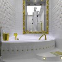 вариант необычного дизайна укладки плитки в ванной комнате картинка