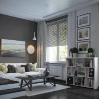 вариант необычного дизайна гостиной спальни картинка
