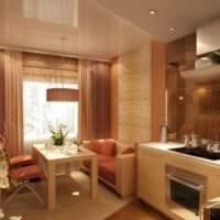 пример светлого стиля кухни 10 кв.м. серии п 44 картинка