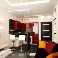 вариант красивого дизайна кухни 12 кв.м фото