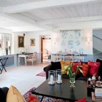 идея яркого дизайна комнаты в скандинавском стиле фото