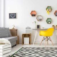 вариант необычного декора комнаты в скандинавском стиле картинка