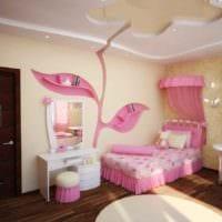 вариант яркого стиля детской комнаты для девочки фото