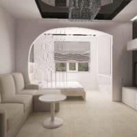 идея яркого декора гостиной спальни картинка