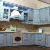 вариант необычного декора кухни 7 кв.м фото
