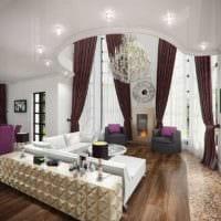 вариант необычного интерьера гостиной спальни картинка
