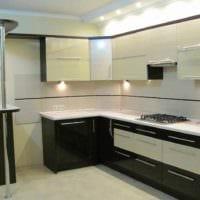 идея красивого дизайна кухни 13 кв.м картинка