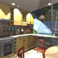 идея красивого дизайна кухни 7 кв.м картинка