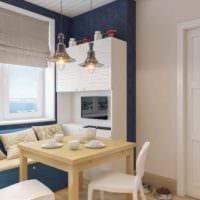 пример светлого стиля кухни 7 кв.м фото