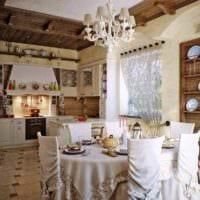 вариант яркого стиля кухни в деревенском стиле картинка