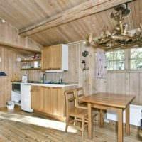 интерьер кухни на даче дизайн