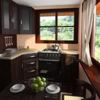 интерьер кухни на даче идеи