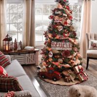 как украсить елку в 2018 году в гостиной