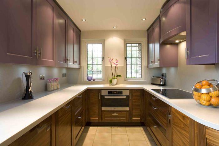 классическое цветовое оформление кухни