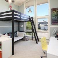 комната для подростка кровать чердак