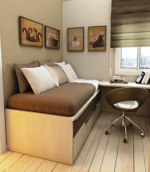 кровать с системой хранения