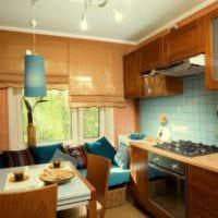 фото кухни с диваном