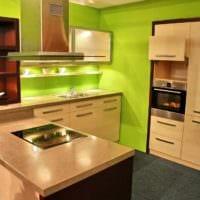 пастельная мебель дизайн малогабаритной кухни