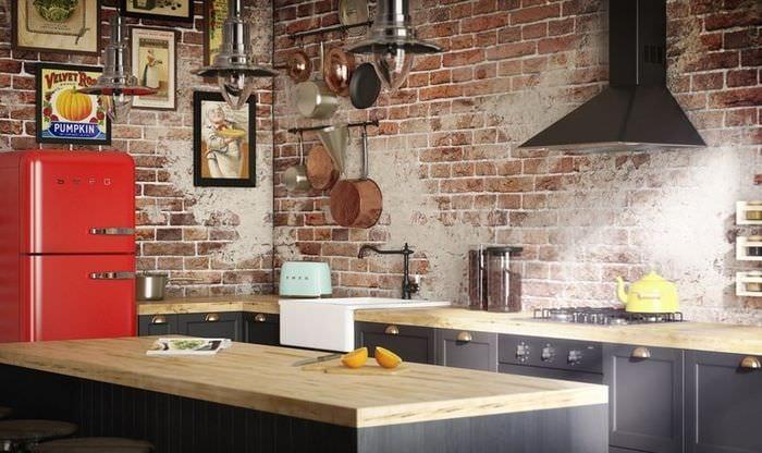 кухня лофт дизайн