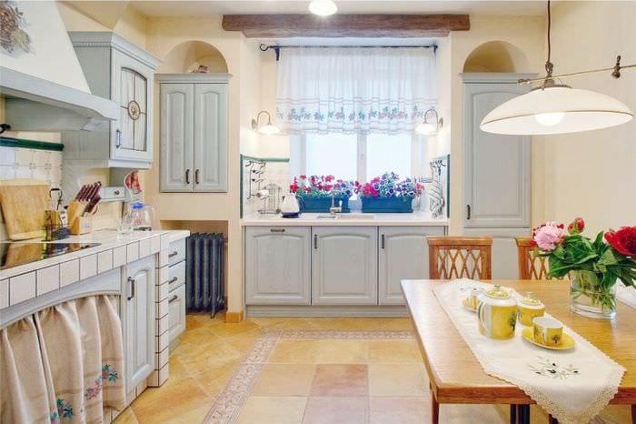 кухня прованс из натуральных материалов