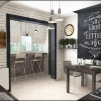 кухня с балконом интерьер