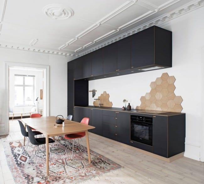 кухня студия в скандинавском стиле