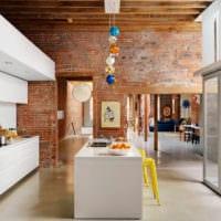 кухня в стиле лофт идеи фото